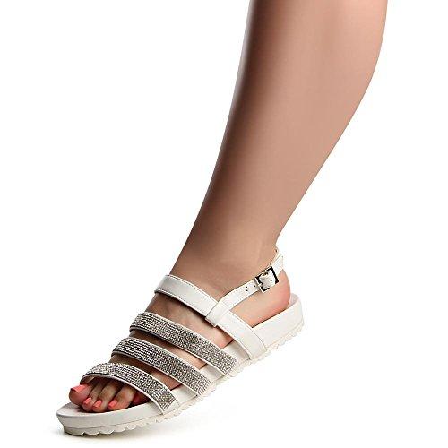 topschuhe24 , Sandales pour femme Blanc