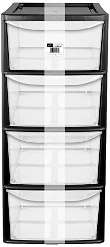 ehc-a4-4-drawer-tall-tower-plastic-storage-unit-black