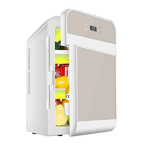 Muttermilch Alkohol (TUNBG 20L Auto Kühlschrank Dual-Core-Kühlung Numerische Steuerung Thermostat Kühler und Wärmer Auto nach Hause Dual-Use-Muttermilch Kosmetik Mini-Kühlschrank gekühlt,Gold)