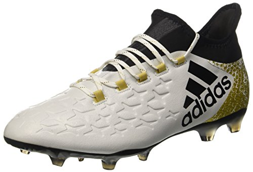 752d34644 adidas Men's X 16.2 Fg Football Boots, White (FTWR White/Core Black/Gold  Met), 9.5 UK 44 EU - Buy Online in Oman. | Shoes Products in Oman - See  Prices, ...