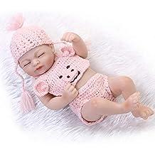 Abiredbud 10.23 Pulgadas Simulación Bebé Muñeca Renacida Alto Grado Completo de Silicona Realista Dormir Recién Nacido