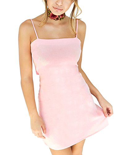 Simplee Apparel - Robe - Moulante - Femme rose clair