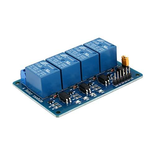 DFHJSXDFRGHXFGH-DE 4 Kanal 5 V Relaismodul Steuerkarte Schild Mit Kontrollleuchte Optokoppler PIC AVR DSP ARM MCU Elektronische Für Arduino (Schild Baby-elektronisches)