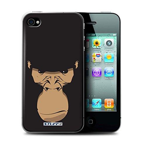 Stuff4® Hülle/Hülle für Apple iPhone 4/4S / Gorilla/Schimpanse/AFFE Muster/Schnauzen Kollektion (4s Iphone Affe)