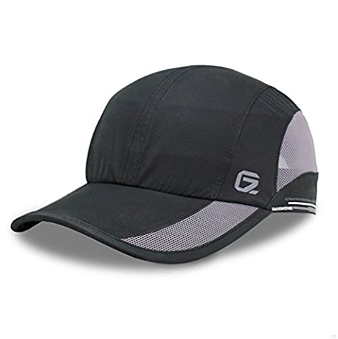 GADIEMKENSD Running Cap Nylon Baseball Caps Cool Breathable for Men Running Hat Run Cap Sporting Goods Hats Quick Drying Soft Thin Light Mesh Sport Hat Black