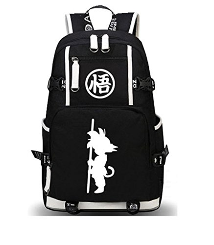 Kostüm Dragon Ball Goku Kid - Siawasey Dragon Ball Z Anime Goku Cosplay Luminous Rucksack Daypack Schultasche Laptop-Tasche Schule Tasche