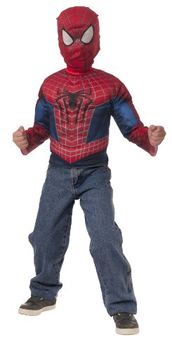 The Amazing Spider-Man 2 Muscle Chest Shirt and Mask Set with Fiber-Fill Muscles by Imagine by Rubies