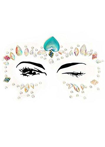 Magic Box Mermaid Princess Fantasy Lotus Facial Jewels Sticker (Kostüme Fantasie Womens)