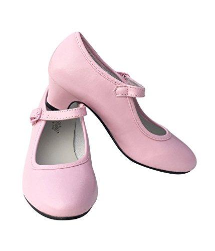 La Senorita Flamenco scarpe Principessa scarpe ballerine con tacco rosa (rosa, Taglia 24 - 17 cm)