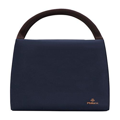 Philorn borsetta porta pranzo termica pranzo borse borsa alimenti lunchbox per scuola e ufficio, blu scuro