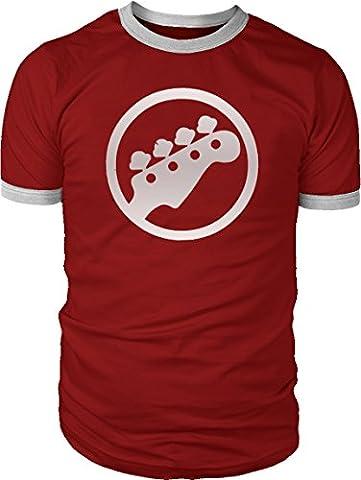 Mens Bass scott pilgrim Symbol ringer contrast T-shirt NEW S-XXL (X-Large)