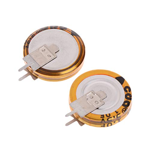 2 Stück Universal 5,5 V 1,0 F Super Kondensator V-Type Taste Smart 5 mm Kapazität -