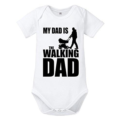 ShirtWorld - Walking Dad - Baby Body Weiß 03-06 Monate