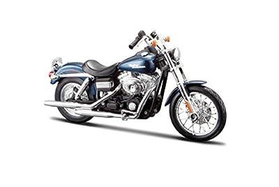 Maisto 532325 - 1:12 Harley-Davidson FXDBI Dyna Street Bob '06 Blau / Schwarz - farblich sortiert von Maisto