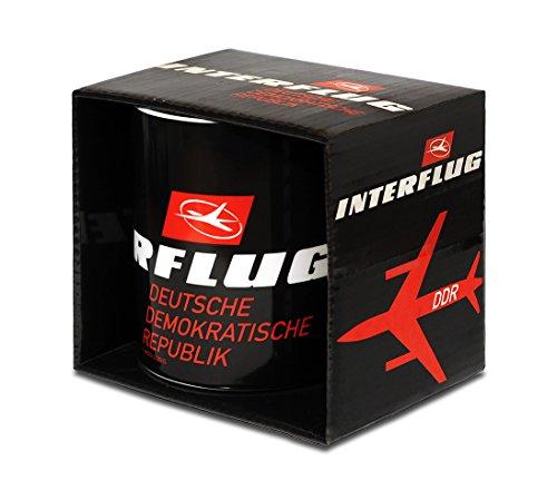 Airlines - Interflug DDR Porzellan Tasse - Kaffeebecher - schwarz - Lizenziertes Originaldesign - LOGOSHIRT