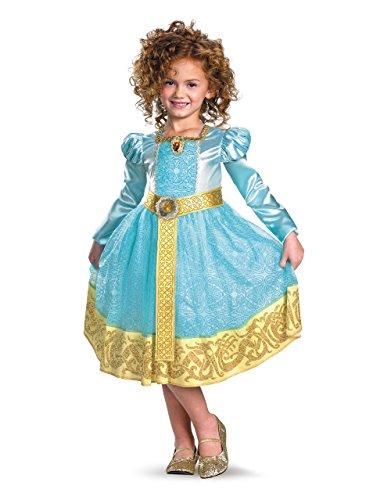Merida Brave Deluxe Kostüm, Kinder-Kostüm, Gr. S Alter 4-6 Jahre, Höhe 3'7.62 cm - 4'3.05 cm (Brave Merida Kostüme)