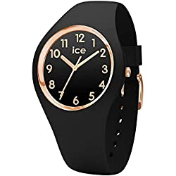Ice-Watch - Ice Glam Black Rose-Gold Numbers - Montre Noire pour Femme avec Bracelet en Silicone - 014760 (Small)