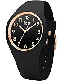 Ice-Watch - Ice Glam Black Rose-Gold Numbers - Montre Noire pour Femme avec Bracelet en Silicone - 014760 (Small)
