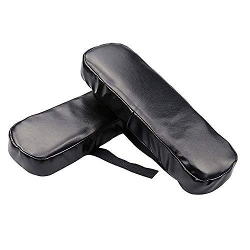 Leder Stuhl Armlehne Pads Verdickt 2 stücke Büro Ergonomische High Density Memory Foam Weichen Ellenbogen Kissen Unterarm Druckentlastung 25X7,8X3,5 cm -