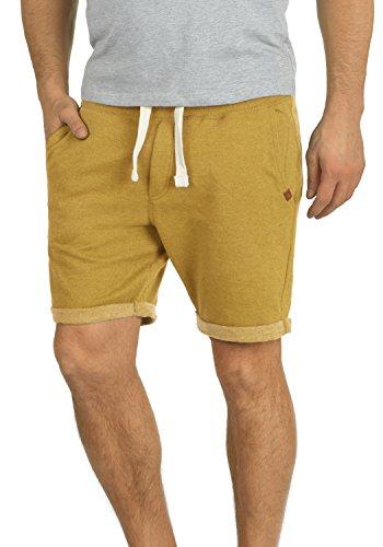 BLEND Timo Herren Sweatshorts kurze Hose Sport-Shorts aus hochwertiger Baumwollmischung Slim fit Stretch, Größe:L, Farbe:Mustard Yellow (72513) (Für Männer Sport-slim-fit-hose)