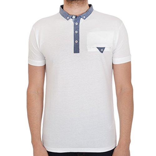 SoulStar Herren Poloshirt FILL ME Weiß