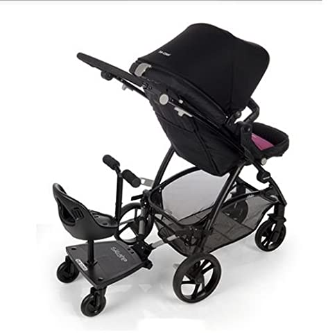 Be Cool Plateforme à roulettes pour poussette avec siège noir