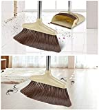 RRJ Cleaning Broom and Dustpan Sets Windproof (Beige)