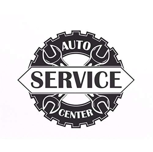 Wiwhy Auto Service Center Logo Fenster Aufkleber Vinyl Aufkleber Reparatur Auto Station Zeichen Garage Wanddekorationen Abnehmbare Art Decals 67X56 Cm