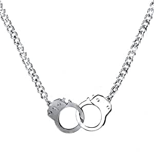 Caine's Handcuff Necklace - Silver