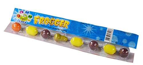 Frogger Tutti Frutti fruit shaped bubblegum (chewing balls) (6)