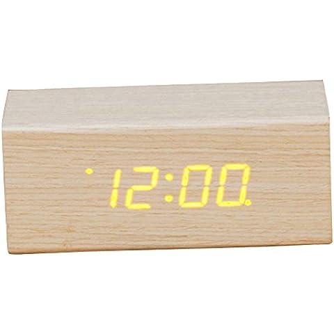 Ufficio orologi, ha portato a una vocale e di clock, orologio digitale, orologio in legno,Rettangolo medio