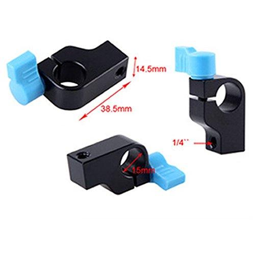 """1/4 """" Clip Bloque sostenedor de la abrazadera para el sistema de apoyo de Rod del carril de 15mm Para brazo mágico"""