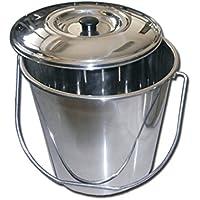 La empresa Gima 26576 Papelera acero inoxidable, con tapa, 12 L, Confezi