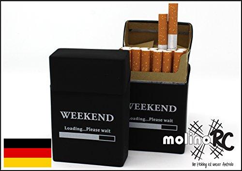 2x Zigaretten-box aus Silikon | Update 2018 | Weekend | Zigarettenhülle - Zigarettenetui | passend für eine Zigarettenschachtel in Standardgröße molinoRC ® | auch für die neuen 21er Schachteln | Blitzversand aus BRD (Deutsche Zigaretten-etui)