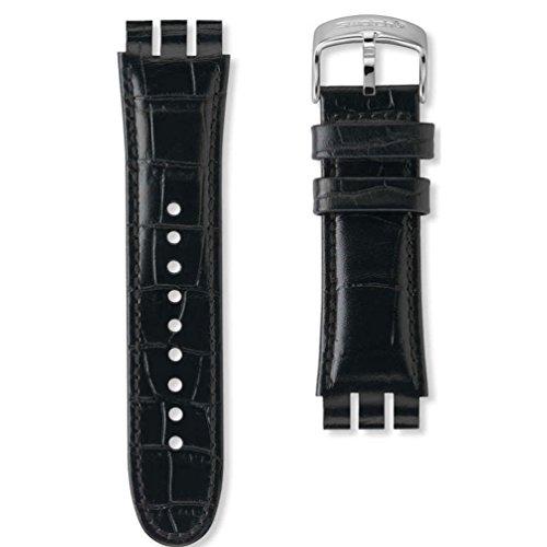 Correa Piel Negra Reloj Swatch Your Turn Black AYOS440 23mm
