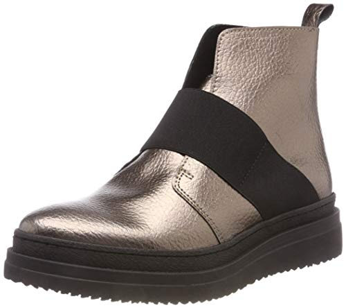 PIECES Damen PSDESSA Leather Boot Stiefeletten, Mehrfarbig Bronze Mist, 38 EU -