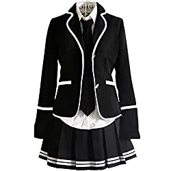 URSFUR Womens British Style Japan School Uniform Sets Cosplay Costume Anime Girl by Shijiazhuang Starway Imp&Exp Trading Co,.Ltd.