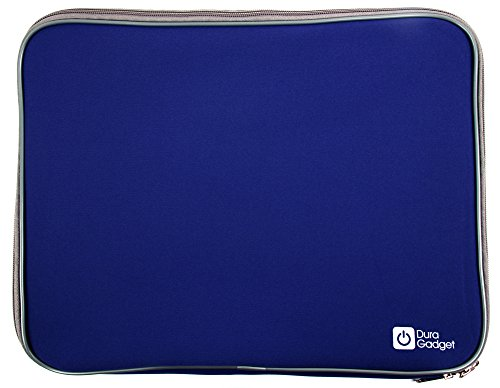 DURAGADGET Blue Water Resistant & Shock Absorbent Sleeve With Dual Zips For Lenovo IdeaPad Flex 14 Haswell Core i3 Convertible Touch Ultrabook