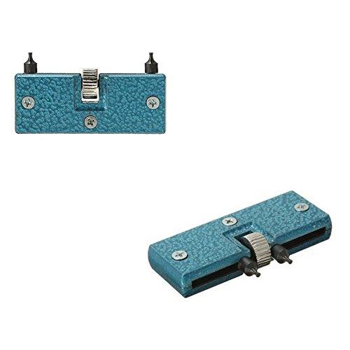 Ortable rettangolo Anchor regolabile orologi a vite fondello copertura Opener Remover chiave strumento di