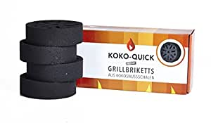 KOKO-QUICK - Instant Grillbriketts aus Kokosnussschalen