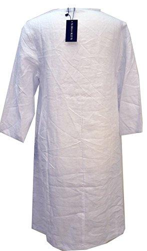 Bella Blue - Robe - Manches 3/4 - Femme Multicolore Bigarré Multicolore - Blanc