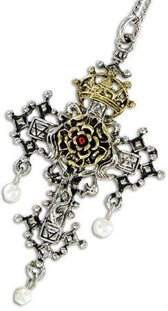 Rosenkreuz von Hampton Court - Vertrauen und Hingabe - Die verlorenen Schätze von Albion von Briar - Anhänger Halskette Hampton Symbol