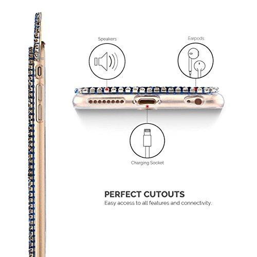 Etui iPhone 6 Plus / 6S Plus, SpiritSun Bling Bling Souple Etui Coque de Protection avec Beau Motif Oreilles pour iPhone 6 Plus / 6S Plus (5.5 pouces) Glitter Diamant Flexible Silicone Housse Etui Ant Bleu Marin