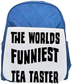 THE WORLD'S FUNNIEST Tea Taster printed printed printed kid's Bleu  backpack, Cute backpacks, cute small backpacks, cute Noir  backpack, cool Noir  backpack, fashion backpacks, large fashion backpacks, Noir  fashion b   Dans Un Style élégant  f29e51