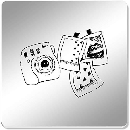 Azeeda 6 x 'Polaroid-Set' Spiegel Untersetzer (CR00057750)