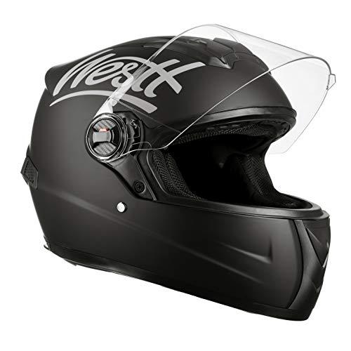 Westt Storm · Casco Moto Integral en Negro Mate · ECE Homologado