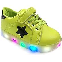 OULII Scarpe LED Bambini Multi-colore Luminoso Scarpe Sportive Sneakers con  Luce - Taglia 22 76345d8bd1a