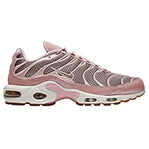 41CewF05G9L. SS300  - Nike Air Max Plus - Women's Sheen/Metallic Gold/Summit White Nylon Running Shoes