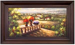 Artmasters Collection Pa 88760–69594 Toscane terrasse encadrée Vue III peinture à l'huile