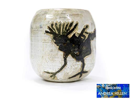 Ovale Vase Vogelritt Zwei -